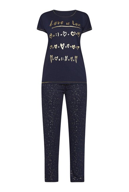 Intima by Westside Navy Printed Pyjama Set