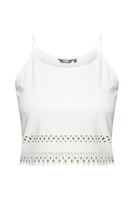 Nuon by Westside White Slim Fit Rosette Top