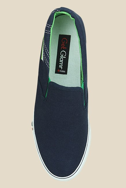 Get Glamr Gary Navy & Green Sneakers