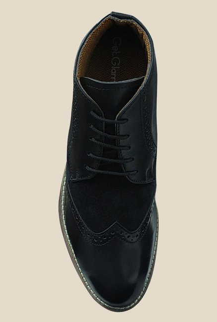 Get Glamr Pattison Black Brogue Shoes