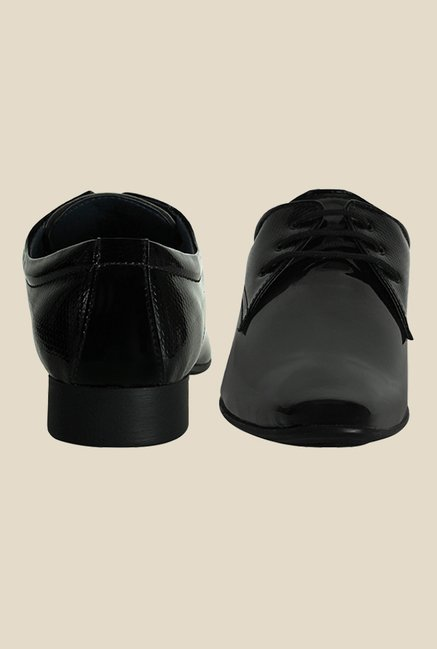 Get Glamr Alex Black Derby Shoes