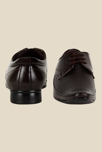 Get Glamr Raid Brown Derby Shoes