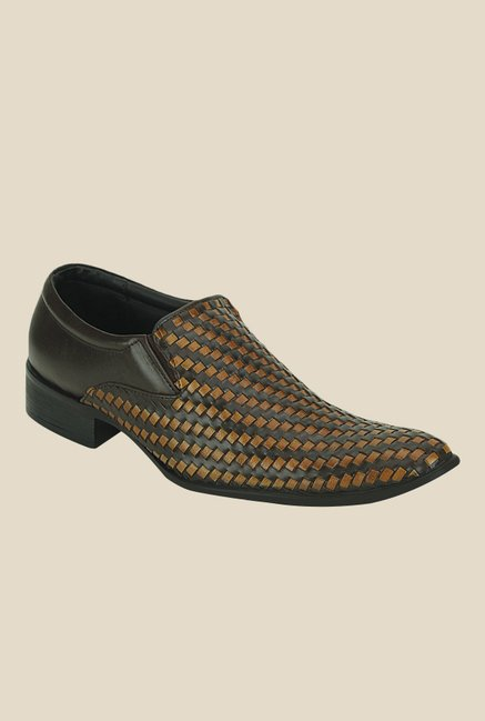 Get Glamr Pablo Brown Formal Loafers