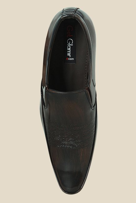 Get Glamr Drake Brown Formal Loafers