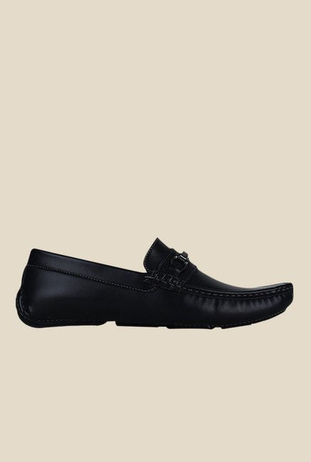 Get Glamr Usher Black Loafers