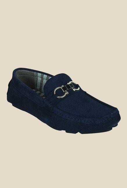 Get Glamr Justin Navy Loafers