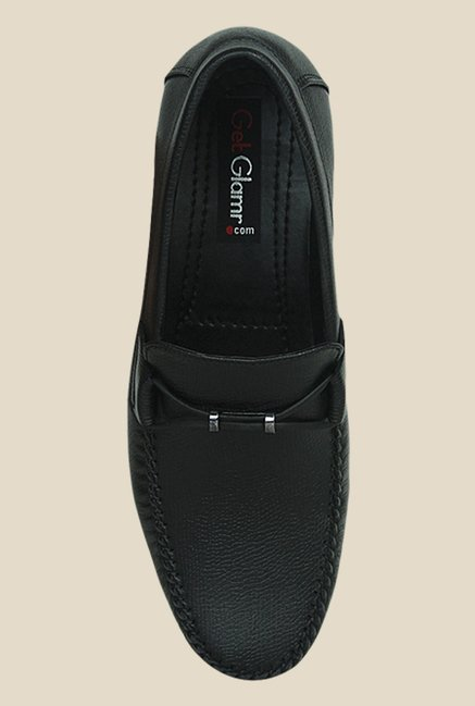 Get Glamr Dennis Black Loafers