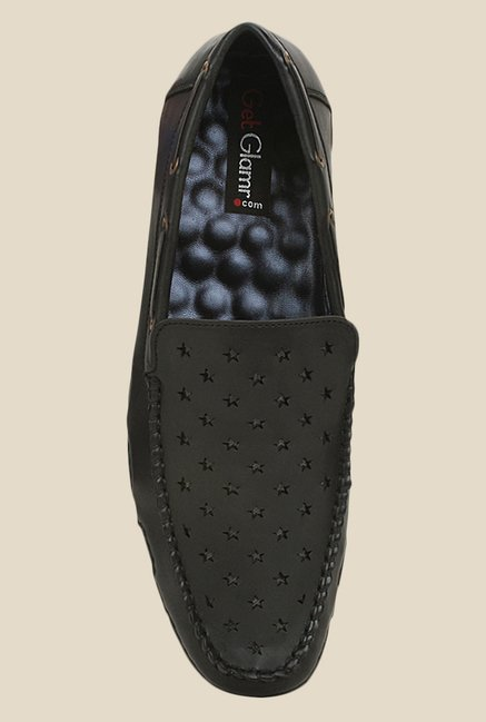 Get Glamr Lewis Black Loafers