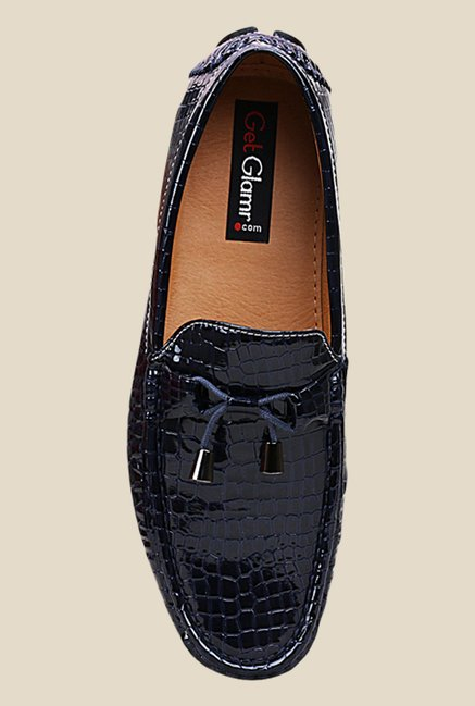 Get Glamr Niro Navy Loafers