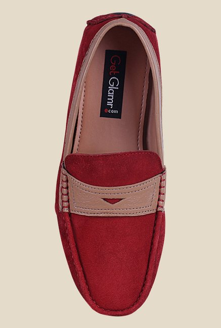 Get Glamr Martin Red Loafers