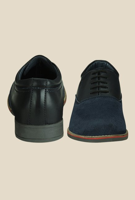 Get Glamr Marcus Navy & Black Derby Shoes