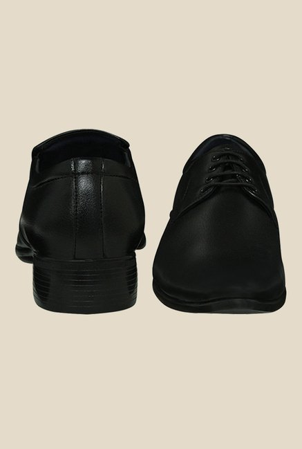 Get Glamr Sasha Black Derby Shoes
