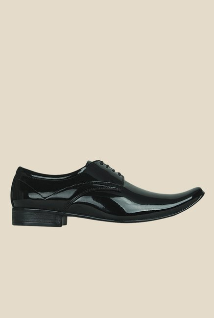 Get Glamr Gabby Black Derby Shoes