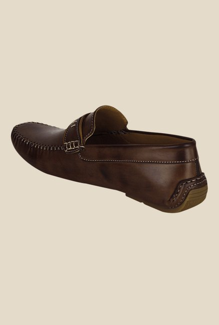 Get Glamr Travolta Brown Loafers