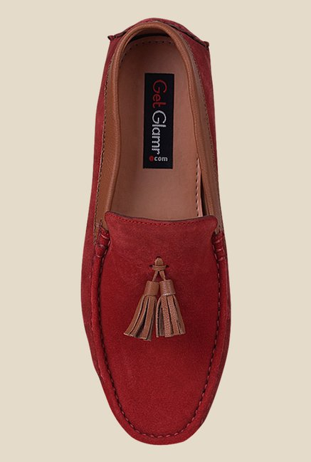 Get Glamr Joe Red Loafers
