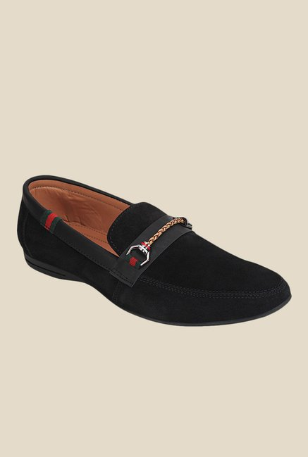 Get Glamr Brando Black Loafers