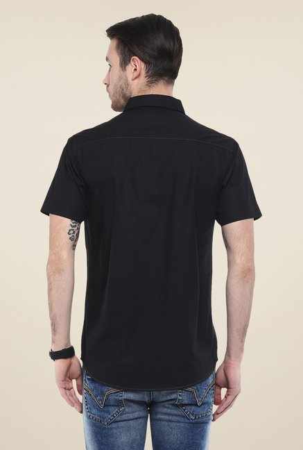 Buy Mufti Black Solid Shirt For Men Online At Tata CLiQ