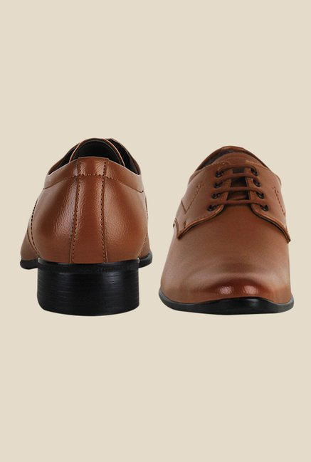 Get Glamr Lance Brown Derby Shoes