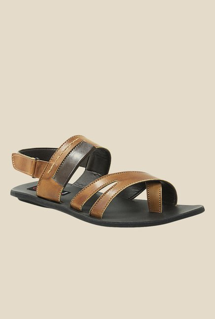 Get Glamr Steve Brown Back Strap Sandals