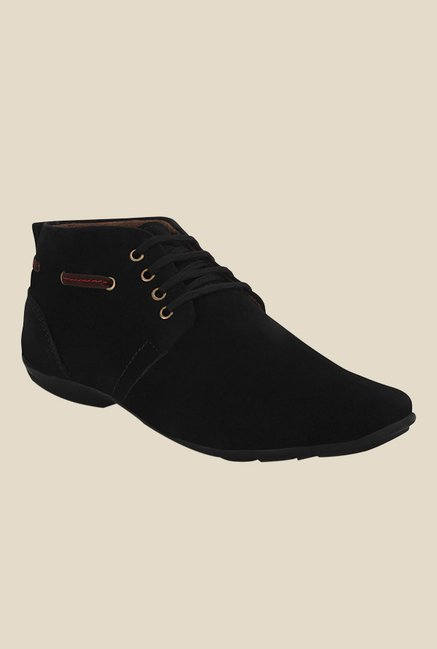 Get Glamr Kenny Black Derby Shoes