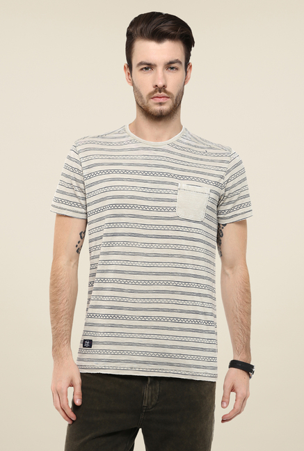 Mufti Fawn Printed T Shirt