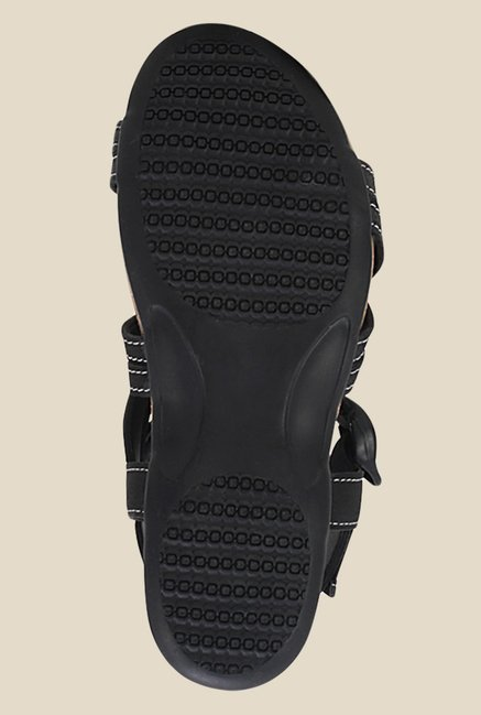 Get Glamr Droga Black Back Strap Sandals