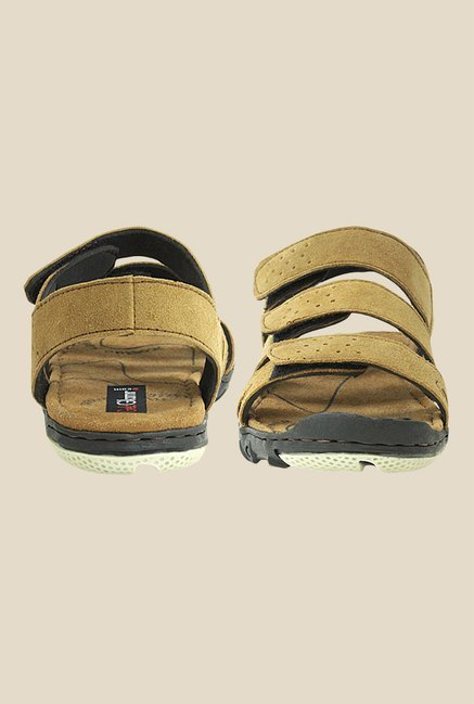Get Glamr Kutcher Brown Floater Sandals