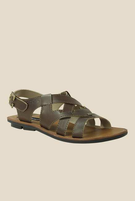 Get Glamr Jason Brown Fisherman Sandals