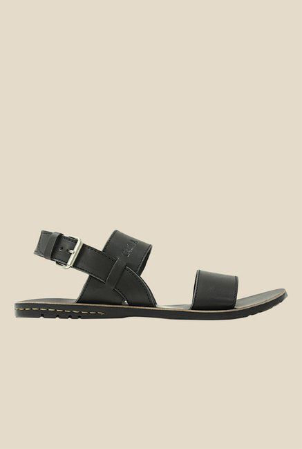 Get Glamr Joel Black Back Strap Sandals