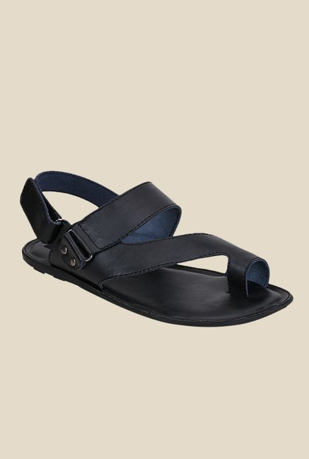 Get Glamr Meyer Black Back Strap Sandals