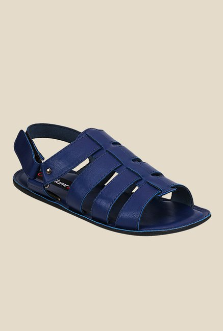 Get Glamr Nicholson Blue Fisherman Sandals