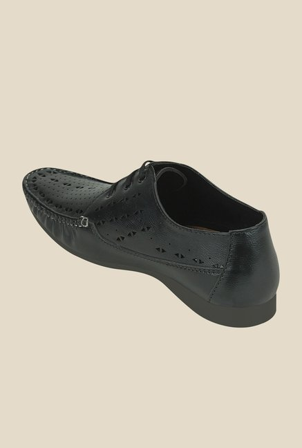 Get Glamr Klimt Black Derby Shoes