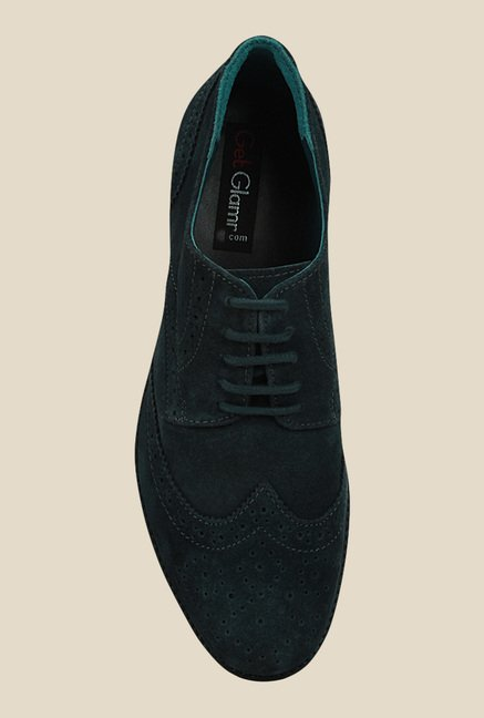 Get Glamr Titian Blue Brogue Shoes