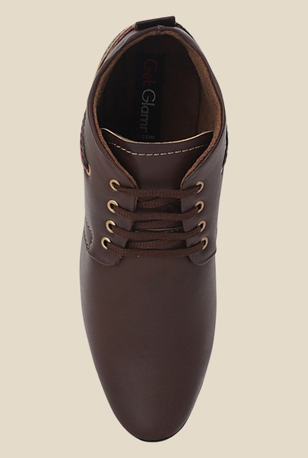 Get Glamr Bane Brown Derby Shoes