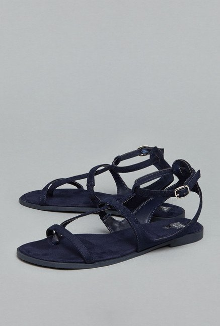 Head Over Heels by Westside Navy Flat Sandals