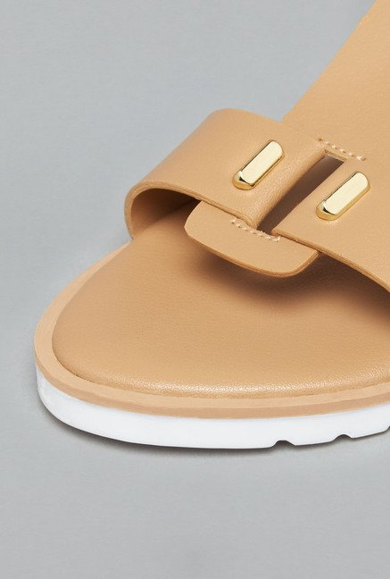 Head Over Heels by Westside Beige Flat Sandals