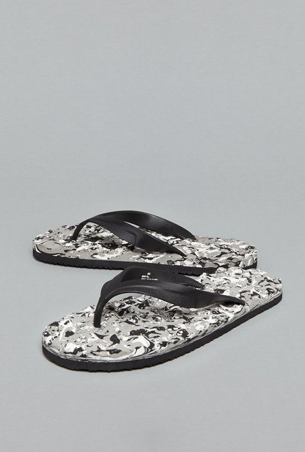 Nuon by Westside Black Thong Flip Flops