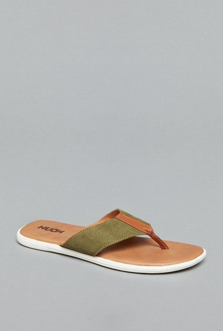 Nuon by Westside Olive Thong Flip Flops