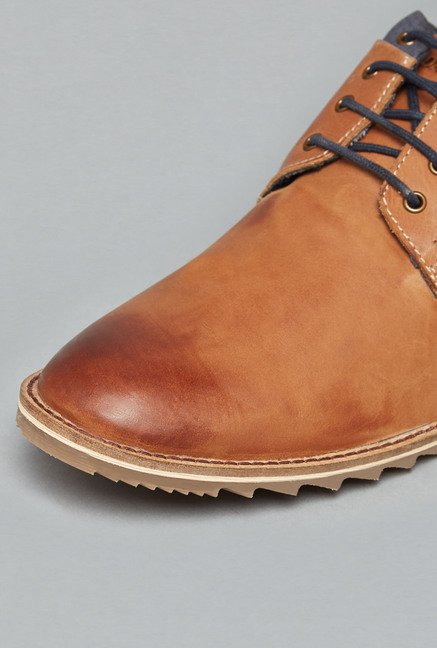 David Jones by Westside Tan Derby Shoes