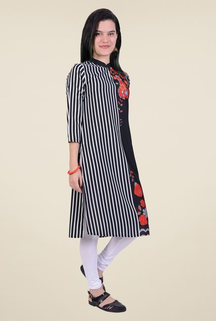 Juniper Black Printed Kurta