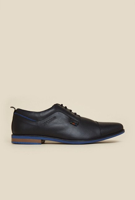 Buckaroo Jaron Black Derby Shoes