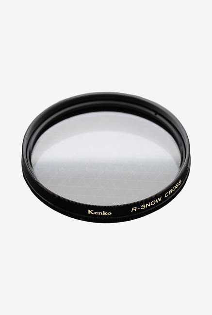 Kenko 58mm R-Snow Cross Screen Camera Lens Filter (Black)