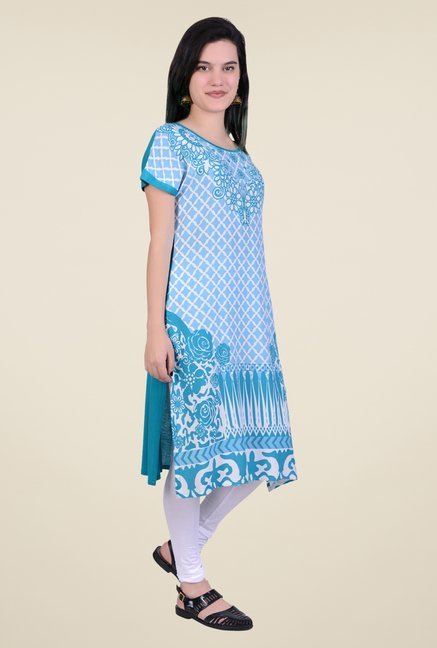 Juniper Teal Printed Kurta
