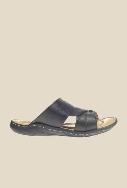 Khadim's Softouch Black Casual Sandals