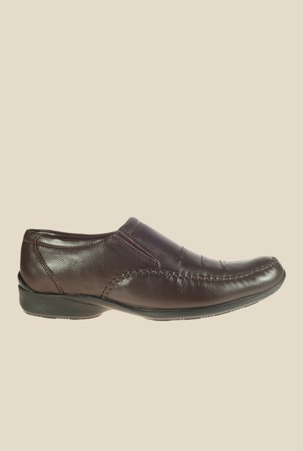 Khadim's British Walkers Taupe Formal Slip-Ons
