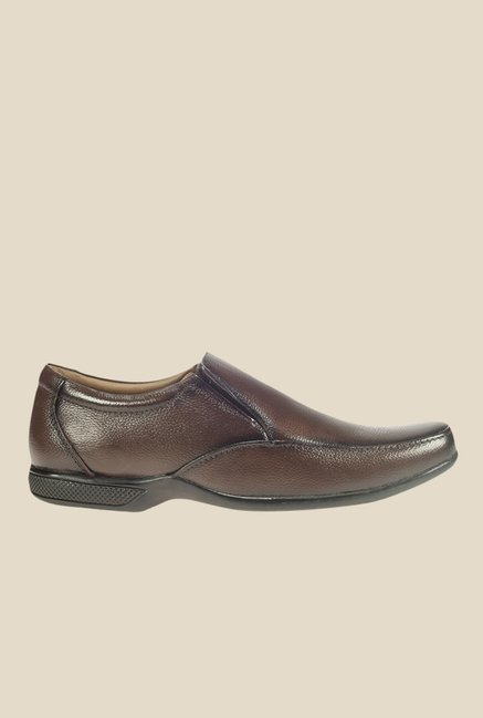 Khadim's Softouch Taupe Formal Slip-Ons