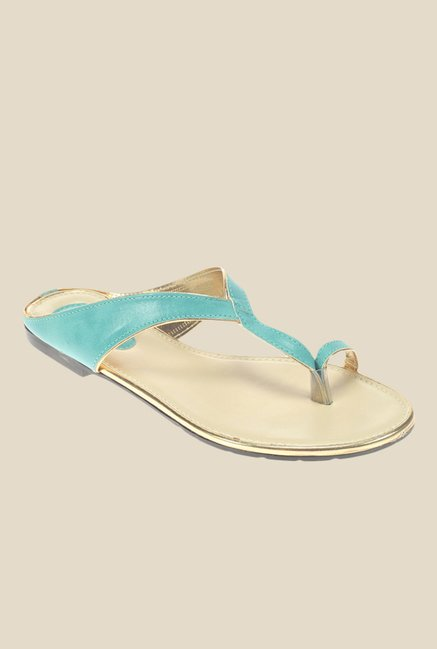 Khadim's Cleo Turquoise Toe Ring Sandals