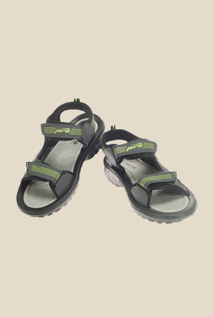 Khadim's Pro Grey & Green Floater Sandals