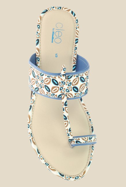 Khadim's Cleo Blue Toe Ring Sandals