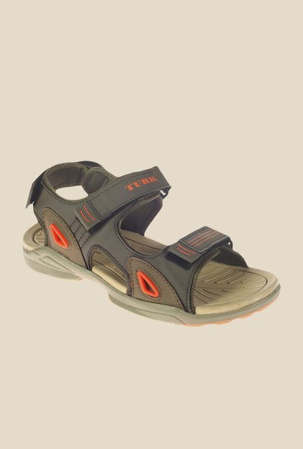 Khadim's Turk Olive Floater Sandals